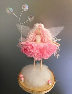 Sweet 'Florentine' fairy, fairy ornament, fairy doll, wire fairy Wire doll