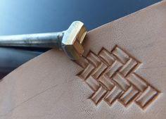 01308 MINI Quadratic Braid Stamp leather Saddlery by Toolpaw, $18.00