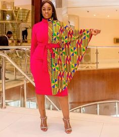 Ankara women's clothing/ Cape short gown/ African print cape dress/ Dashiki long gown/ Prom dress/ Kitenge/ Kente Ankara women's clothing/. African Fashion Designers, Latest African Fashion Dresses, African Print Dresses, African Print Fashion, African Prints, Nigerian Fashion, Ankara Fashion, Africa Fashion, Kitenge
