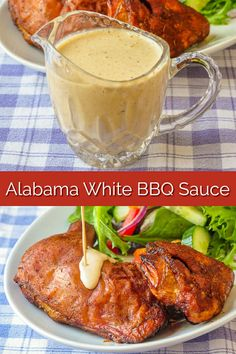 White Barbecue Sauce. An Alabama favourite! More of a condiment than a BBQ sauce this tangy, creamy sauce compliments both smoked & grilled chicken & pork. #BBQ #barbecue #smoke #smoker #smoking #memorialday #fourthofjuly #4thofjuly #labourday #laborday #summerfood