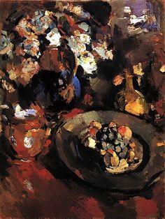 """""""Still Life with Fruit and Bottle"""", Konstantin Korovin"""