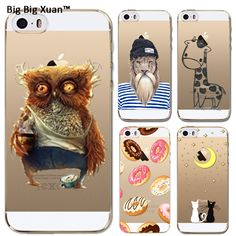 For Apple iPhone 5 5s SE Fashion Cute Animal Giraffe Lion Owl Cartoon Paint Cases Clear Soft Silicon Slim Cell Phone Case Cover #clothing,#shoes,#jewelry,#women,#men,#hats,#watches,#belts,#fashion,#style