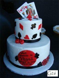 """What Happens in Vegas"" cake by BellaRosa"