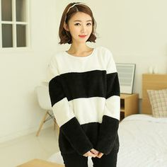 Fleeced-Line Color-Block Pullover from #YesStyle <3 CLICK YesStyle.com
