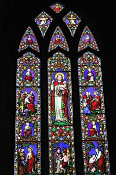 Gorgeous stain glass window, Mitcheldean Church, Mitcheldean, Gloucestershire. 23rd December 2014 St Michael, Saints, Angels, San Miguel, Angel, Saint Michael, Archangel Michael, Angelfish