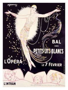 Bal des Petits Lits Blancs by Charles Gesmar // vintage opera poster