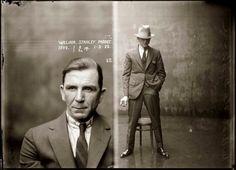 mugshots 1920's photography graphic design