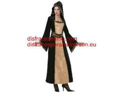 Tu mejor disfraz de doncella gotica mujer bt 3393. También serviría como disfraz de Doncella Medieval con su bonito vestido con capucha. ¡¡Compra tu disfraz para Halloween en nuestra tienda de disfraces, será divertido!!