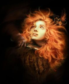 """Ygritte The Wildling - Touched by fire. Character from """"A Song of Ice and Fire"""" by Anna Mitura © George R. R. Martin  """"You know nothing Jon Snow."""""""