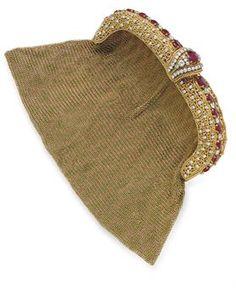 Gold diamond ruby evening bag