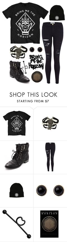 """""""Bring Me The Horizon"""" by alexdacko ❤ liked on Polyvore featuring Hot Topic, Sam Edelman, Frame, Adele Marie, bringmethehorizon and BMTH"""