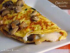 Omelette con funghi e mozzarella
