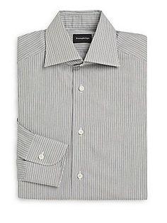 Ermenegildo Zegna Regular-Fit Multistriped Cotton Dress Shirt - Dk Grn