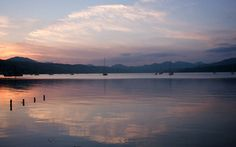 Sunset on The Gareloch, Rosneath, Scotland