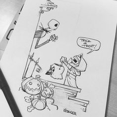 Commissioned #mashup of #lilkylo and #jackskellington. #trickortreat #halloween…