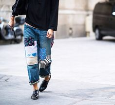 63 Denim Street Style Looks to Inspire You Now via @WhoWhatWear
