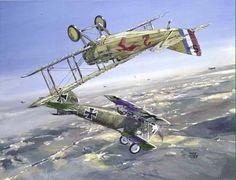 Battle of 2 Ace's. Ernst Udet & Georges Guynemer. Guynemer saw that Udet's guns were jammed, so he let him fly away.