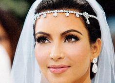 Best wedding makeup tips kim kardashian 55 ideas Celebrity Wedding Makeup, Simple Wedding Makeup, Wedding Makeup Tips, Natural Eyebrows, Natural Eye Makeup, Bridal Makeup For Brown Eyes, Kim Kardashian Wedding, Braut Make-up, 98