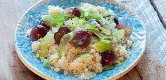 Sałatka z winogronami i kasza kuskus Grains, Rice, Food, Essen, Meals, Seeds, Yemek, Laughter, Jim Rice