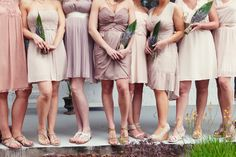 soft muted pretty #bridesmaids