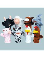 cute farm puppets