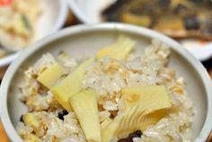 Receta de Takenoko gohan, arroz con brotes de bambú. http://www.recetasjaponesas.com/2014/05/takenoko-gohan.html #receta #cocina #japon #japonesa #recetas #japonesas #bambú #arroz #gohan