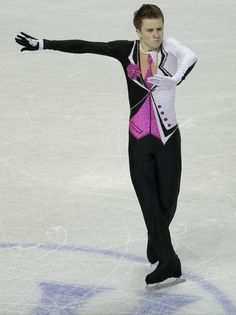 Misha Ge of Uzbekistan  skates his free program in the men's competition at the 2013 World Figure Skating Championships in London, Ontario, March 15, 2013.