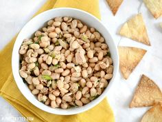 This Tuna and White Bean salad is mayo-free, but big on flavor. Whip up this salad in minutes to satisfy your hunger and tastebuds. Step by step photos.