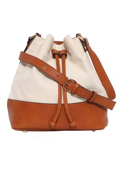 Canvas Color Block Bag in Ivory | Necessary Clothing