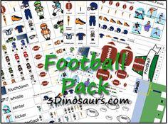 Free Football Preschool Printable Pack