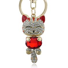 Lucky Smile Cat Crystal Rhinestone Keyrings Key Chains Holder Purse Bag For Car christmas Gift Keychains Jewelry llaveros K218♦️ SMS - F A S H I O N  http://www.sms.hr/products/lucky-smile-cat-crystal-rhinestone-keyrings-key-chains-holder-purse-bag-for-car-christmas-gift-keychains-jewelry-llaveros-k218/ US $2.59