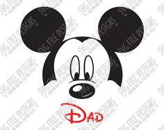 Mickey Mouse Dad Cut File Set in SVG, EPS, DXF, JPEG, and PNG