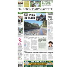 The front page of the Taunton Daily Gazette for Tuesday, Sept. 24, 2013.