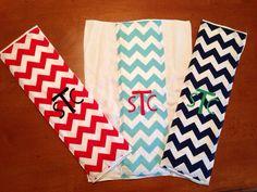 Boy's Chevron Monogrammed Burp Cloth Buy Two Get One Free on Etsy, $9.00