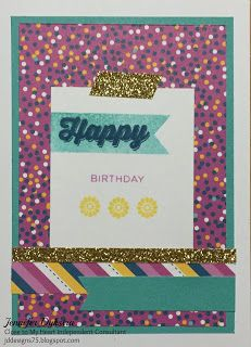jd designs: CTMH card set using Confetti Wishes and Finding the Words stamp set #ctmhconfettiwishes #ctmhartphilosophy