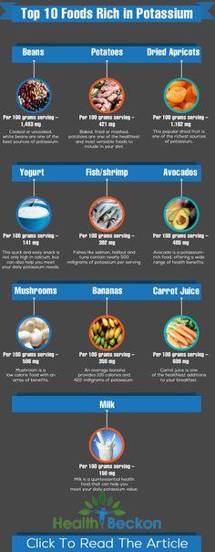 10 alimentos ricos em potássio