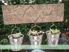 DIY Hanging Succulent Planters