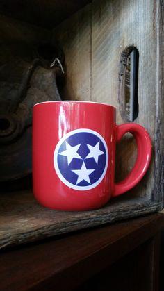Red Tennessee Flag Mug