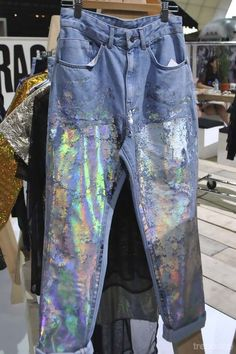 Art and denim. Holographic Print Denim, The Ragged Priest Spring Summer 2015
