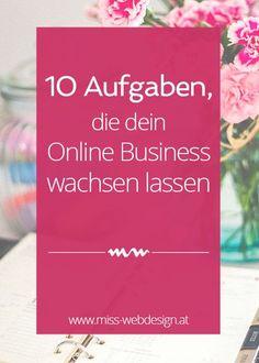 10 monatliche Aufgaben, die dein Online Business wachsen lassen | miss-webdesign.at
