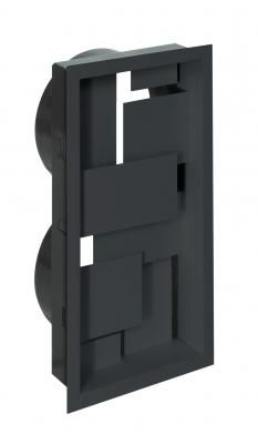 The design-led Infinity vent is available in one size x and in either Black or White. The vent is mounted on a fixing frame which offers both and diameter connectors. Log Burner, Interior Styling, Locker Storage, Infinity, Led, Architecture, Design, Products, Interior Decorating