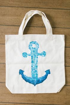 DIY Tutorial: DIY Ombre / DIY Nautical Totes - Bead&Cord
