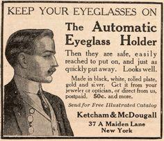 Vintage Ad: eyeglass holder.