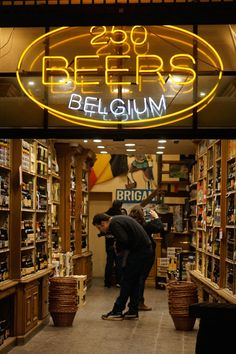 Not a shopper? What about shopping for beer in Brussels, Belgium-- the specialty stores have an insane selection, some beers which can only be found locally and are never exported. Bruges, Beer Store, Liquor Store, Buy Beer, Belgian Beer, Brussels Belgium, Travel Souvenirs, European Travel, Travel Europe