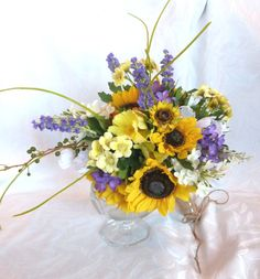 Sunflower wedding Country wedding by ChurchMouseCreations on Etsy, $122.00