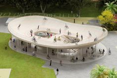 Cycling Pavilion in Hainan China by NL Architects. A roof which you can cycle on to.