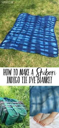 Read this easy tutorial for how to make a shibori indigo tie dye blanket! Super simple, single layer organic fleece is perfect for snuggling. Easy Sewing Projects, Sewing Projects For Beginners, Sewing Hacks, Sewing Tutorials, Craft Tutorials, Craft Projects, Leftover Fabric, Quilting For Beginners, Love Sewing
