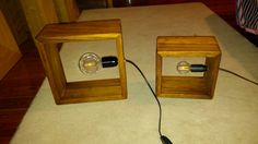 Wooden box lamps