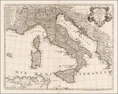 Italy 1774  Barry Lawrence Ruderman Antique Maps Inc.