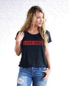 1c3e01483d47e LOVE WELL Womens Black Flowy Raglan
